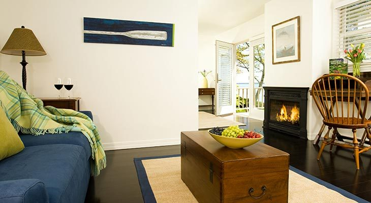Overview of our oceanfront cottage, Rachel Carson Cottage