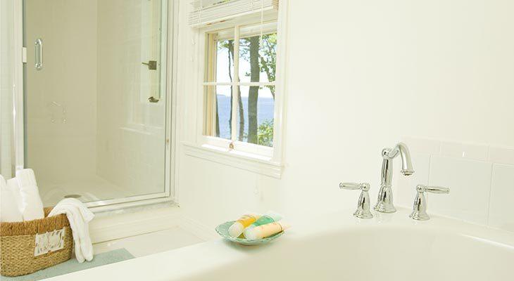Bathroom in the Rachel Carson Cottage