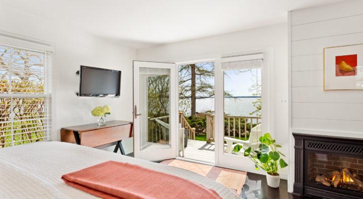 Luxury cabin rental in Maine, the Rachel Carson Cottage