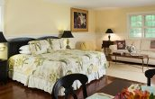 An overview of the Garden House Suite at our Maine Coast Bed and Breakfast