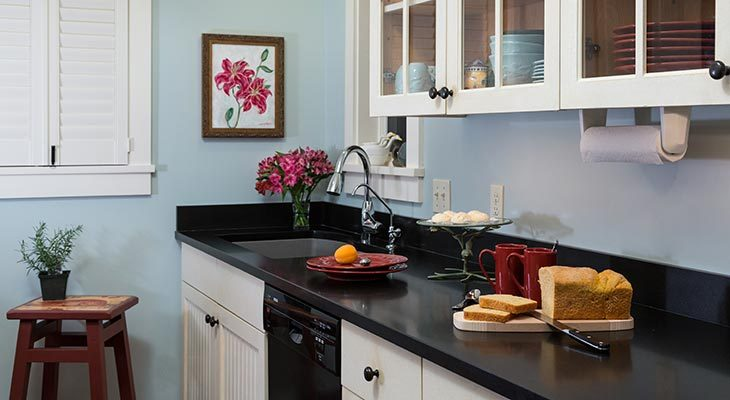 Mini kitchen in our Maine Coast Bed and Breakfast