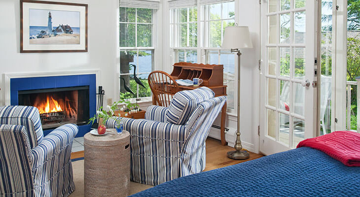 Overview of our oceanfront Cottage in Maine