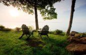 Chairs overlooking Penobscot Bay