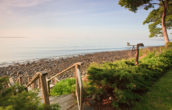 Sunrise over the beach at the Inn