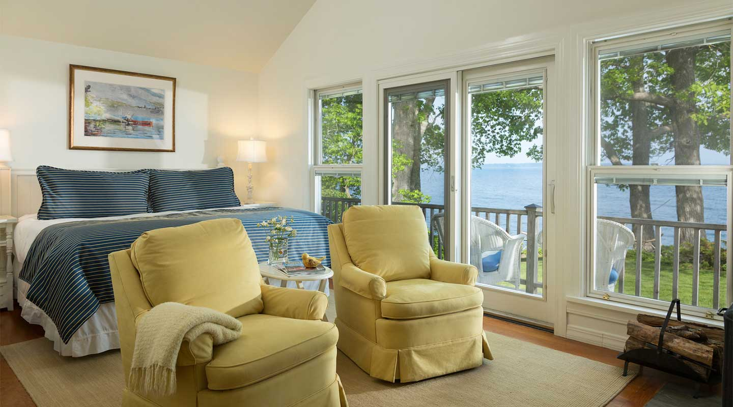 Room view at our Maine oceanfront rental