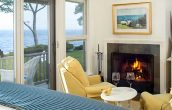 Our Maine oceanfront rentals have fireplaces