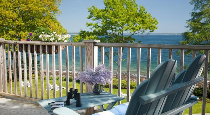 Private deck of the May Sarton Room