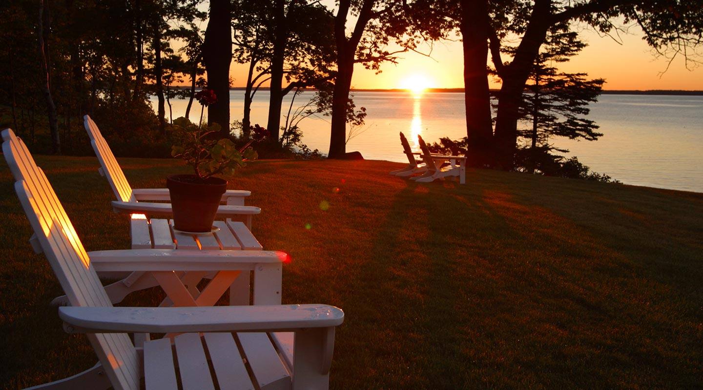 Off the beaten path in Maine, sunrises and sunsets