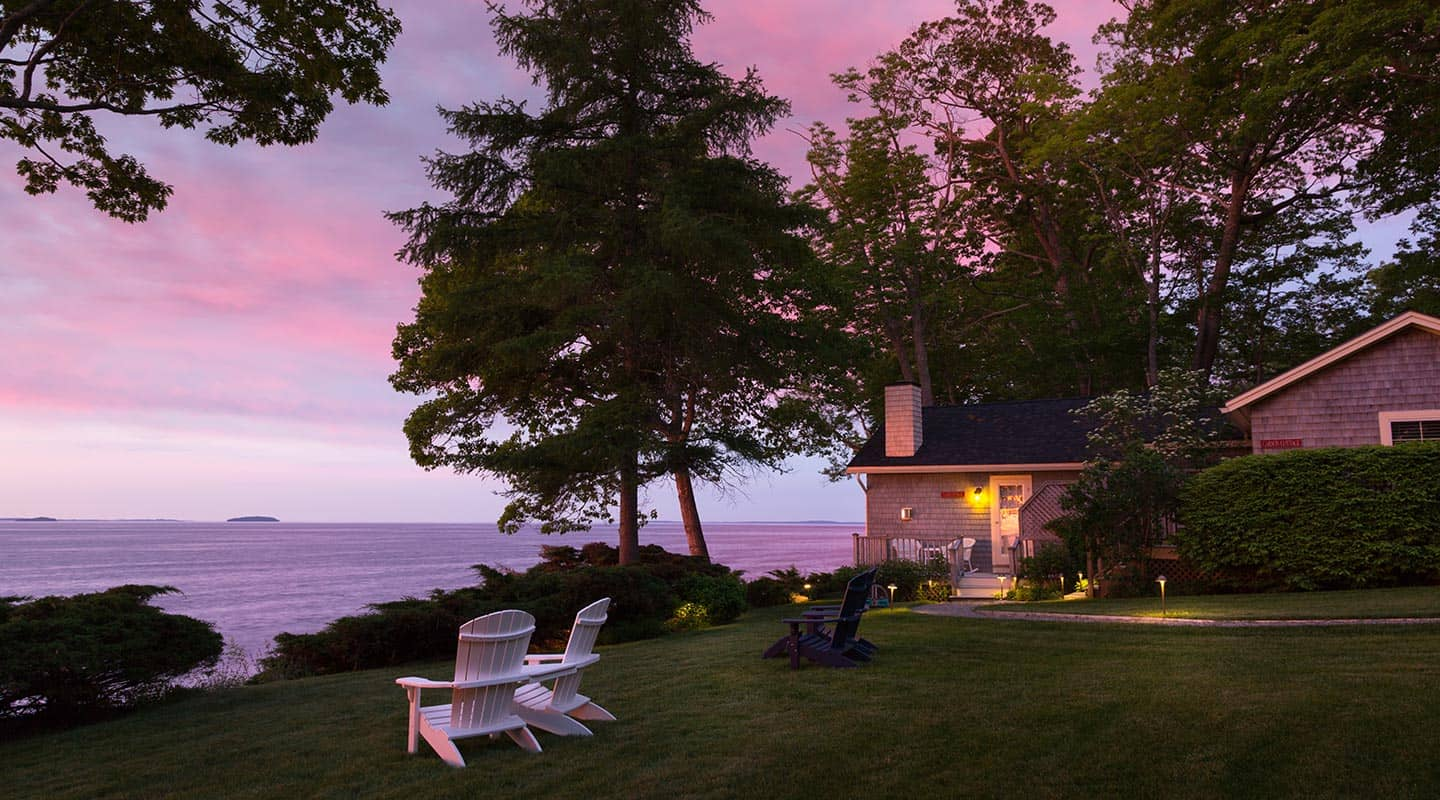 Camden, Maine Bed and Breakfast at sunrise