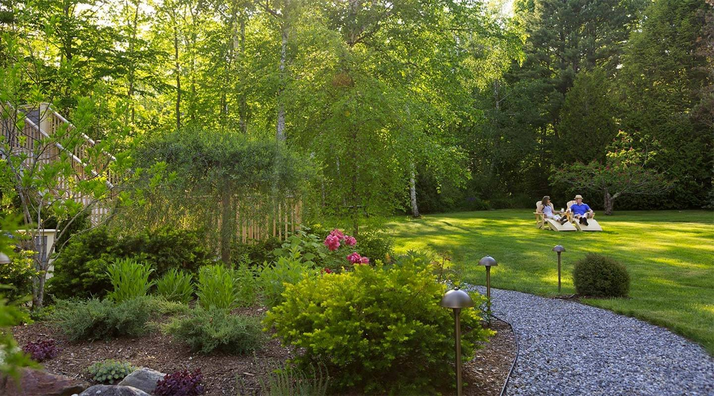 Gardens at our romantic getaway in Maine