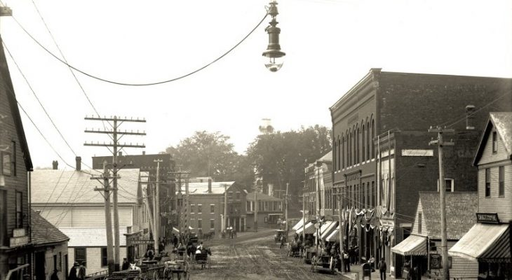 old photo of a main street