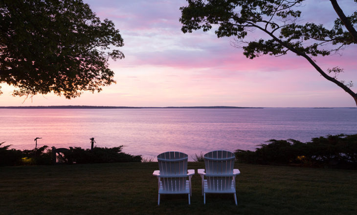 ocean sunrise over the Inn at Sunrise Point