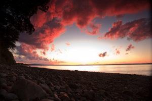 Beautiful sunrise at our romantic B&B in Maine