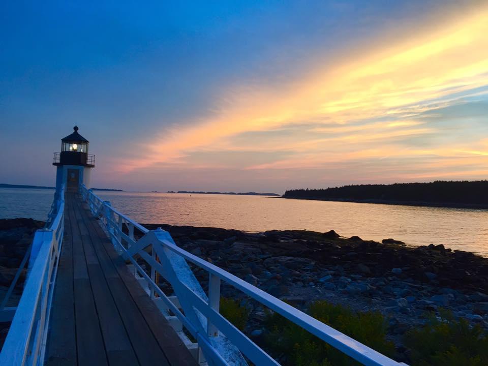 Romantic Marshall Point Light in Maine