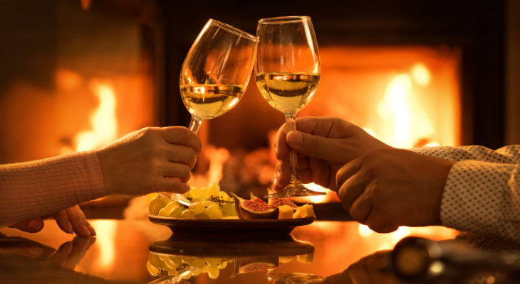 Cheers to your romantic retreat at the Inn at Sunrise Point