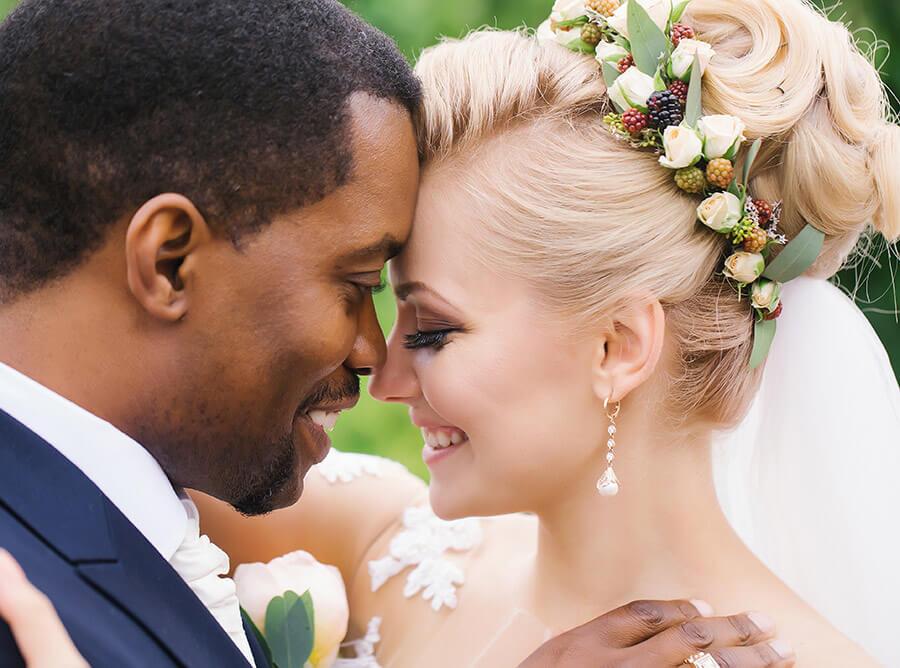 romantic wedding couple