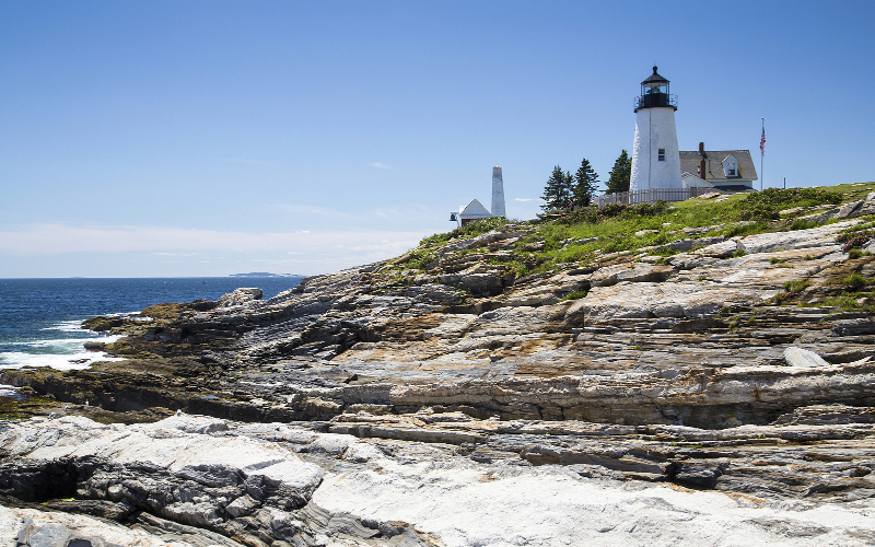 Pemaquid Point Lighthouse While Sightseeing in Maine