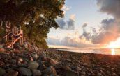 Sunrise over the coast of Maine